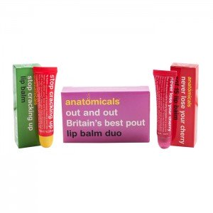Anatomicals Out and Out Britain's Best Pout Lip Balm Duo