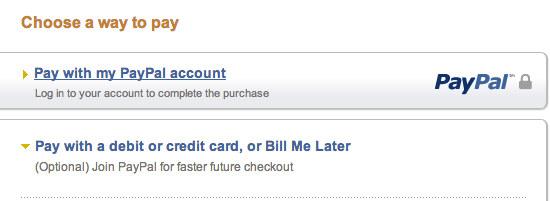 Paying With Visa Through PayPal - Anatomicals