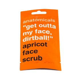 anatomicals get outta my face dirtball apricot face scrub